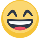 Happy Emoji / Smiling Face With Open Mouth And Smiling Eyes Emoji, Facebook style