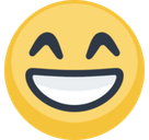 Grin Emoji / Grinning Face With Smiling Eyes Emoji, Facebook style