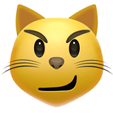 Cat Face with Wry Smile Emoji, Apple style