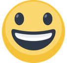 Smiling Face With Open Mouth Emoji, Facebook style