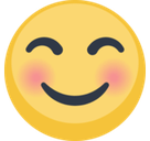 Blushing Emoji / Smiling Face with Smiling Eyes Emoji, Facebook style