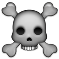 Skull and Crossbones Emoji, Apple style