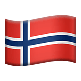 Flag: Norway Emoji, Apple style