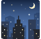Night with Stars Emoji, Facebook style