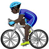 Person Biking Emoji with a Dark Skin Tone, Apple style