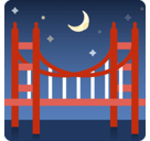 Bridge At Night Emoji, Facebook style