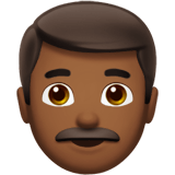 Man Emoji with a Medium-Dark Skin Tone, Apple style