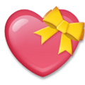 Heart with Ribbon Emoji, LG style