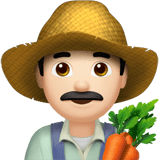 Man Farmer Emoji with a Light Skin Tone, Apple style