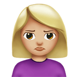 Person Pouting Emoji with a Medium-Light Skin Tone, Apple style
