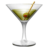 Cocktail Glass Emoji, Apple style