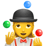 Woman Juggling Emoji, Apple style