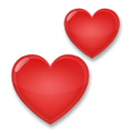 Two Hearts Emoji, LG style
