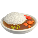 Curry Rice Emoji, Apple style