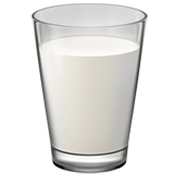 Glass of Milk Emoji, Apple style