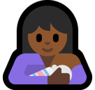 Breast-Feeding Emoji with Medium-Dark Skin Tone, Microsoft style
