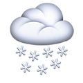 Cloud with Snow Emoji, Apple style