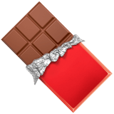 Chocolate Bar Emoji, Apple style