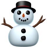 Snowman Without Snow Emoji, Apple style