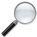 Magnifying Glass Tilted Right Emoji, LG style