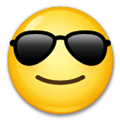 Sunglasses Emoji / Smiling Face with Sunglasses Emoji, LG style