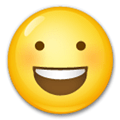 Smiling Face With Open Mouth Emoji, LG style