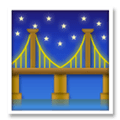 Bridge At Night Emoji, LG style