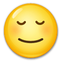 Relieved Face Emoji, LG style