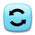 Counterclockwise Arrows Button Emoji, LG style