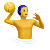 Man Playing Water Polo Emoji, Apple style