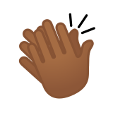 Clapping Hands Emoji with a Medium-Dark Skin Tone, Google style
