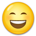 Happy Emoji / Smiling Face With Open Mouth And Smiling Eyes Emoji, LG style