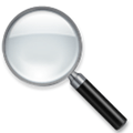 Left-Pointing Magnifying Glass Emoji, LG style