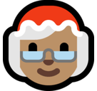 Mrs. Claus Emoji with a Medium Skin Tone, Microsoft style