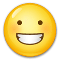 Grinning Face Emoji, LG style