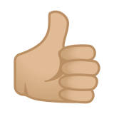 Thumbs Up Emoji with a Medium-Light Skin Tone, Google style
