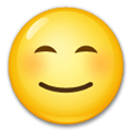 Blushing Emoji / Smiling Face with Smiling Eyes Emoji, LG style