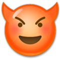 Devil Emoji / Smiling Face with Horns Emoji, LG style
