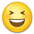 Smiling Face with Open Mouth & Closed Eyes Emoji, LG style