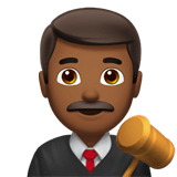 Man Judge Emoji with a Medium-Dark Skin Tone, Apple style