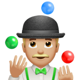 Person Juggling Emoji with a Medium-Light Skin Tone, Apple style