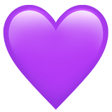 Purple Heart Emoji, Apple style