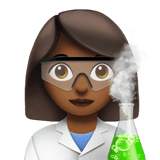 Woman Scientist Emoji with Medium-Dark Skin Tone, Apple style