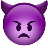 Imp Emoji / Angry Face with Horns Emoji, Apple style