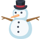 Snowman Without Snow Emoji, Facebook style