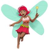 Fairy Emoji with Medium Skin Tone, Apple style