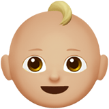 Baby Emoji with a Medium-Light Skin Tone, Apple style