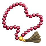 Prayer Beads Emoji, Apple style
