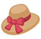Womans Hat Emoji / Woman's Hat Emoji, Facebook style