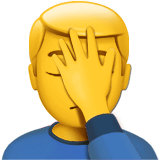Face Palm Emoji / Person Facepalming Emoji, Apple style